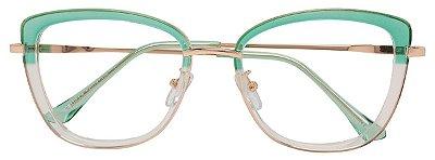 Armação Óculos Receituário AT 20110 Verde/Transparente