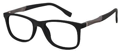 Armação Óculos Receituário Infantil AT 2092 Preto/Prata (04 A 12 Anos)