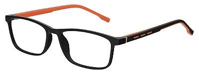 Armação Óculos Receituário AT 1071 Preto/Laranja