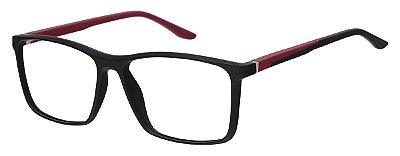 Armação Óculos Receituário AT 1076 Preto/Vermelho