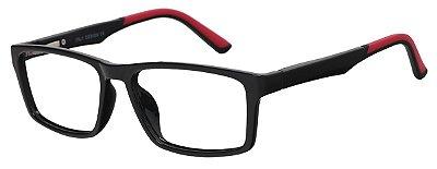Óculos Receituário Infantil AT 2093 Preto/Vermelho (12 A 17 Anos)