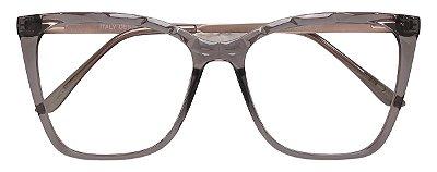 Armação Óculos Receituário AT 2114 Mosaico Cinza Transparente