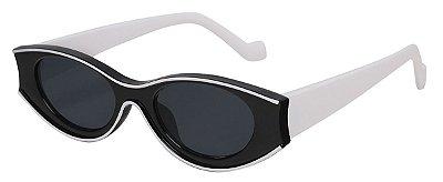 Óculos de Sol Feminino AT 13021 Preto/Branco