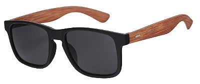 Óculos de Sol Unissex AT 56035 Preto/Bambu