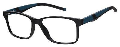 Armação Óculos Receituário AT 1063 Preto/Azul