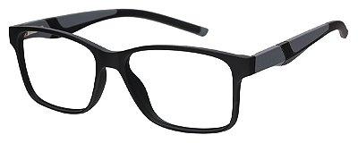 Armação Óculos Receituário AT 1063 Preto/Cinza