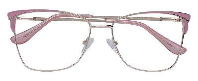 Armação Óculos Receituário AT 1028 Rosa/Dourado
