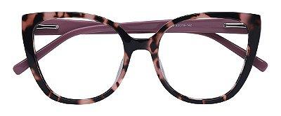 Armação Óculos Receituário AT 2176 Animal Print/Rosa
