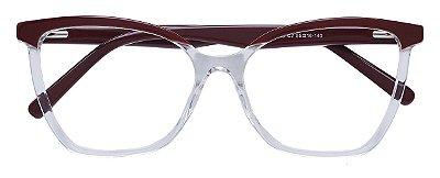 Armação Óculos Receituário AT 2180 Vinho/Transparente
