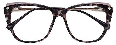 Armação Óculos Receituário AT 7004 Animal Print