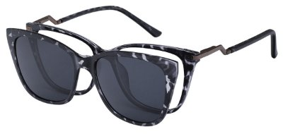 Armação Óculos Receituário e Sol Clipon Com 1 Lente AT 5213 Animal Print