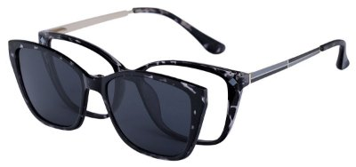 Armação Óculos Receituário e Sol Clipon Com 1 Lente AT 5215 Animal Print