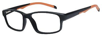 Armação Óculos Receituário AT 1088 Preto/Laranja