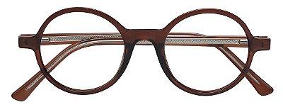 Armação Óculos Receituário AT 22018 Marrom Transparente