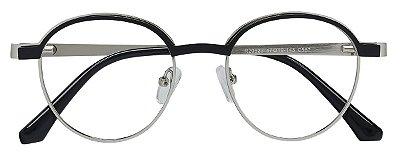 Armação Óculos Receituário AT 20523 Preto/Prata