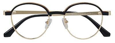Armação Óculos Receituário AT 20523 Preto/Dourado