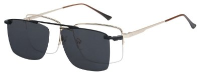 Armação Óculos Receituário e Sol Clipon Com 1 Lente AT 88099 Dourado