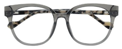 Armação Óculos Receituário AT 1005 Cinza Transparente