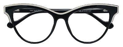 Armação Óculos Receituário AT 1014 Preto/Branco