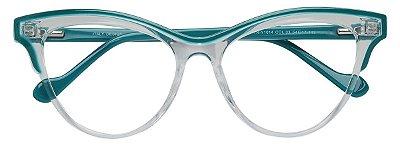 Armação Óculos Receituário AT 1014 Transparente/Verde