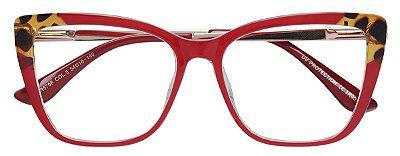 Armação Óculos Receituário AT 5706 Vermelho/Tartaruga