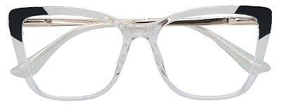 Armação Óculos Receituário AT 5706 Transparente/Preto