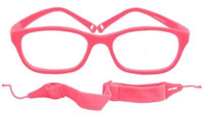 Armação Flexível infantil TIPO Miraflex AT 6038 Rosa Pink (04 a 09 anos)