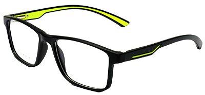 Armação Óculos Receituário AT 1025 Preto/Verde