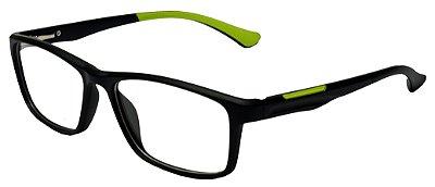 Armação Óculos Receituário AT 1026 Preto/Verde