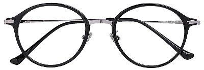 Armação Óculos Receituário AT 9230 Preto/Prata
