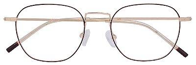 Armação Óculos Receituário AT 9112 Vermelho/Dourado