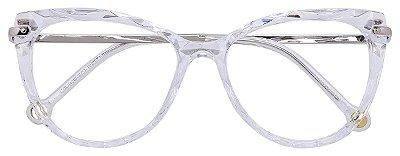 Armação Óculos Receituário AT 5596 Mosaico Redondo Transparente