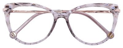 Armação Óculos Receituário AT 5596 Mosaico Redondo Cinza