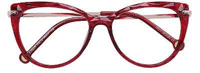 Armação Óculos Receituário AT 5596 Mosaico Redondo Vermelho