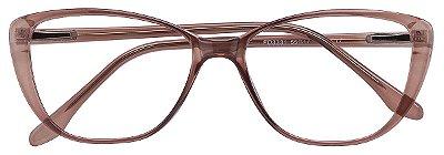 Armação Óculos Receituário AT 3331 Marrom Transparente