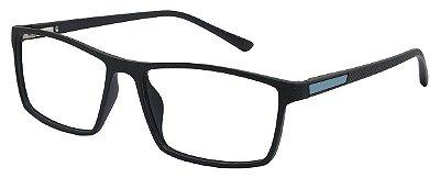 Armação Óculos Receituário AT 1027 Preto/Azul