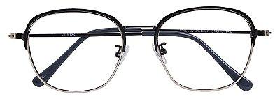 Armação Óculos Receituário AT 9134 Prata/Cinza