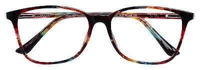 Armação Óculos Receituário AT 3107 Marrom Mesclado