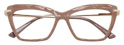 Armação Óculos Receituário AT 5546 Mosaico Quadrado Nude