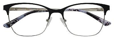 Armação Óculos Receituário AT 811001 Preto/Animal Print