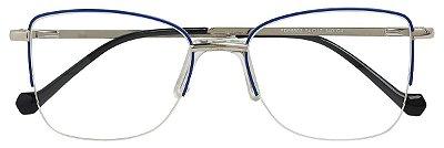 Armação Óculos Receituário AT 55502 Azul/Prata