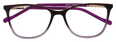 Armação Óculos Receituário AT 7714 Vinho Degradê
