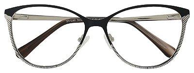 Armação Óculos Receituário AT 7240 Preto/Prata