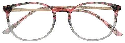 Armação Óculos Receituário AT 6659 Cinza/Rosa Mesclado