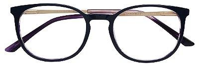 Armação Óculos Receituário AT 6659 Roxo/Dourado