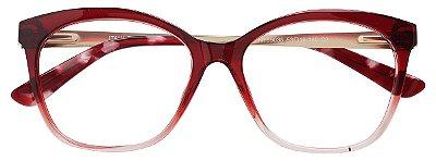 Armação Óculos Receituário AT 99035 Vermelho Degradê