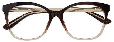 Armação Óculos Receituário AT 99035 Marrom Degradê