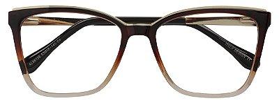 Armação Óculos Receituário AT 98135 Marrom Degradê