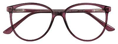 Armação Óculos Receituário AT 3343 Vinho Transparente