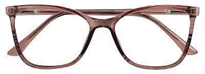Armação Óculos Receituário AT 3341 Marrom Transparente